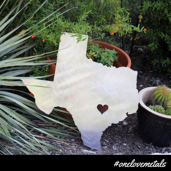 Texas Texas Outdoor Decor Texas Metal Art Texas Garden | Etsy