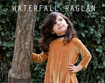 Waterfall Raglan (Girl's) pdf sewing pattern