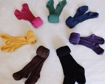 0dcd1cef10063 Hand dyed, winter cable knit tights, baby tights, cable knit tights, girls  tights, warm tights