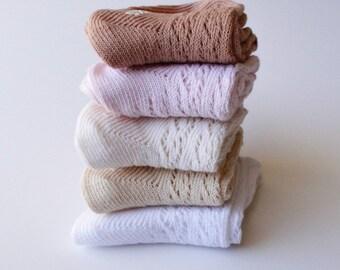 3b712c2f2 Crochet Hand dyed knee high socks