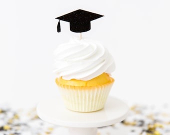 Graduation Cupcake Toppers - 2018 Grad Party, Graduation Party Decor, Custom Graduation Decor, High School Grad Party
