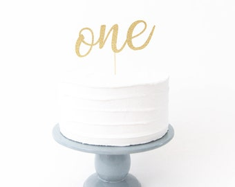 One Cake Topper - First Birthday Cake Topper, 1st Birthday Party Decor, First Birthday, One is Fun, Wild One, First Birthday Party