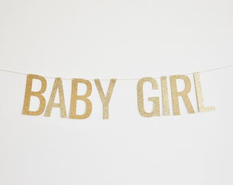 Baby Girl Banner - Baby Shower Banner, Pregnancy Announcement Banner, Birth Announcement