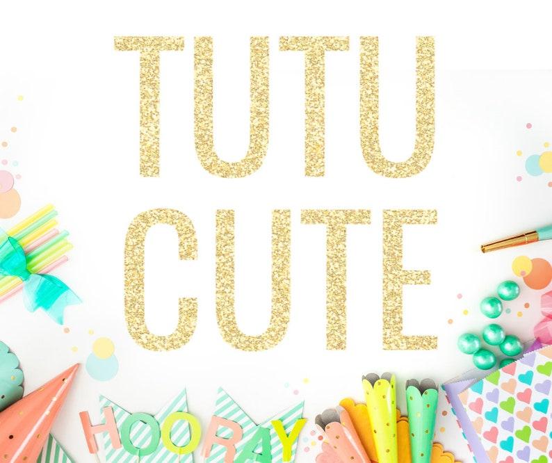 Tutu Cute Banner Second Birthday 2nd Decor