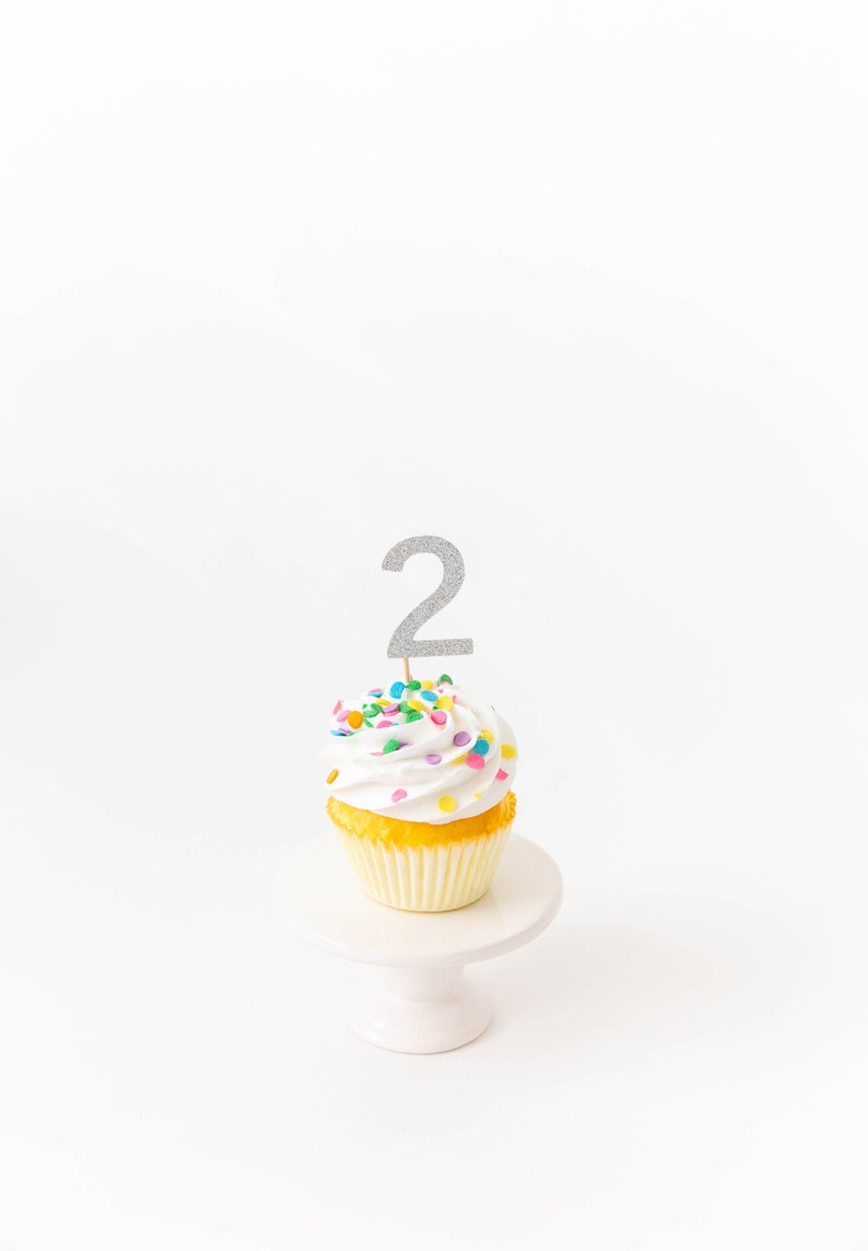 2nd Birthday Cupcake Toppers Party Decor Tutu
