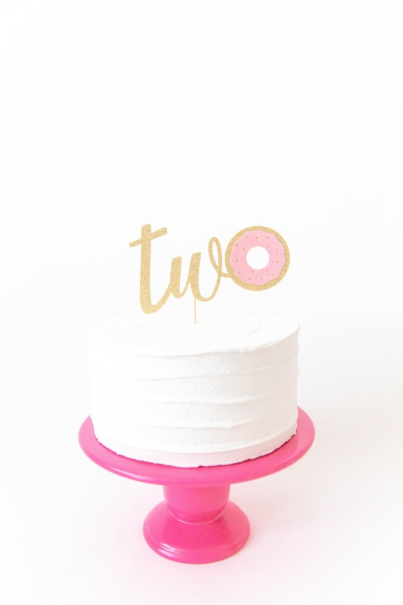 Two Donut Cake Topper 2nd Birthday Grow