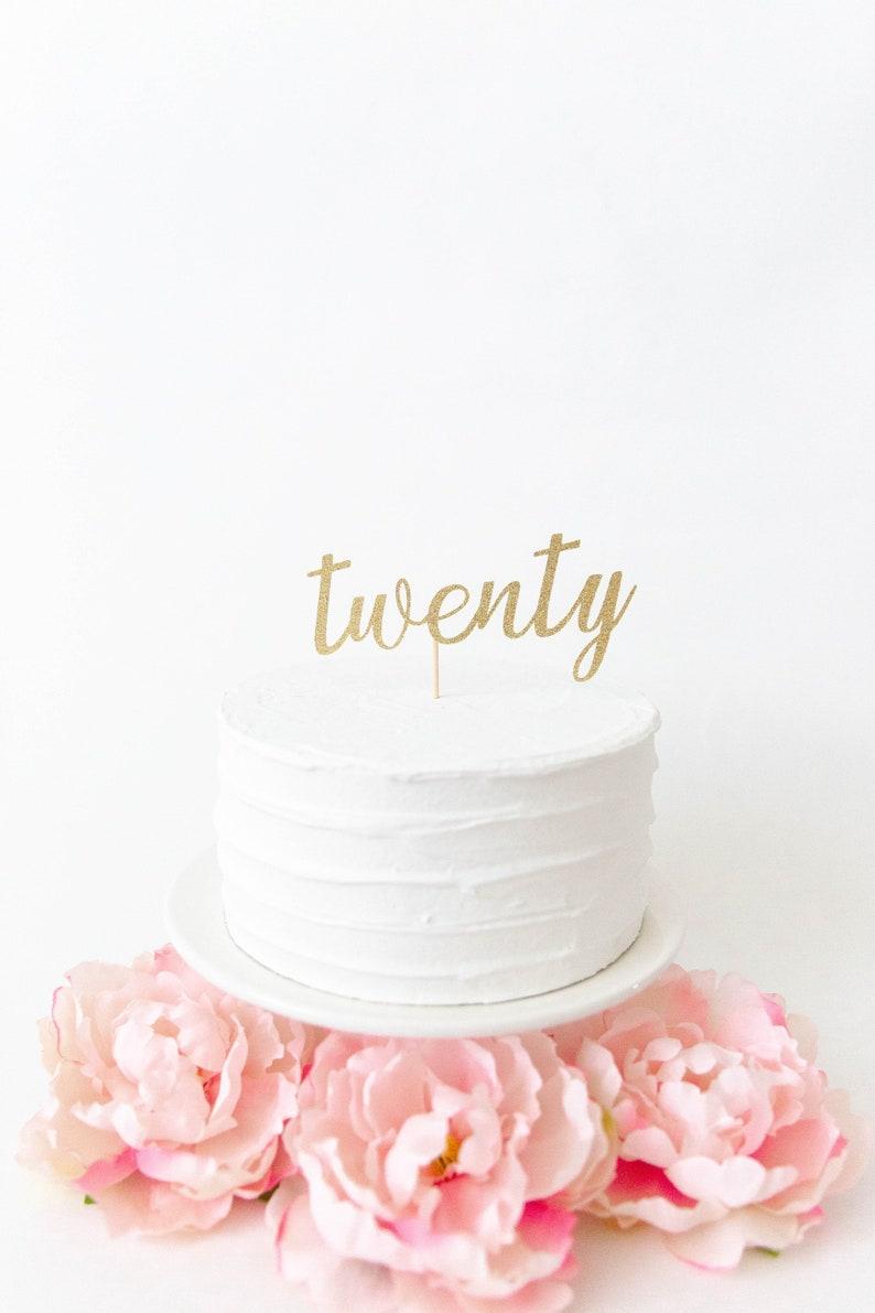 Twenty Cake Topper 20th Birthday