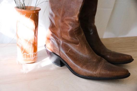 Bottes cuir de cowboy en cuir Bottes Vintage cee5a3