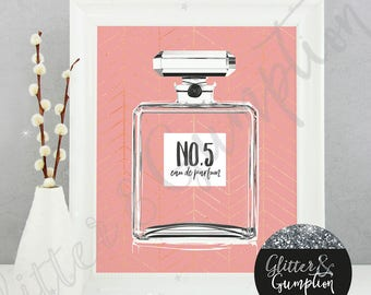 Fashion Perfume Bottle -gift idea , home decor,Fashion Print, gift idea