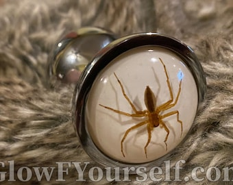Huge ghost spider butt plug, fill yourself, with SPIDERS!! Mature adults only