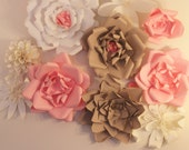 Giant Paper flower backdr...