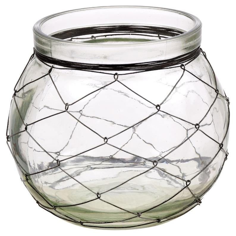 Pottery & Glass Art Glass Beautiful Circular Candle Stand Centerpiece Vase