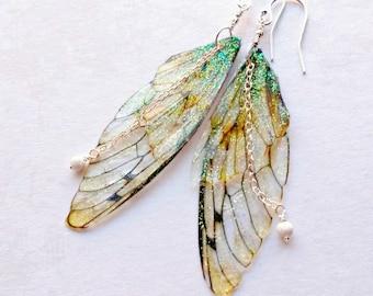Fairy Wing Earrings, Gifts under 25, Festival Earrings,   Fairy Jewellery, Fantasy Earrings,  Gifts for girls, butterfly earrings
