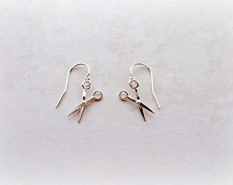 6b9aeb12a Scissor Earrings, Sterling Silver Scissor Earrings, Gift for Her,  Hairdressers Gift, Valentines Gifts for her