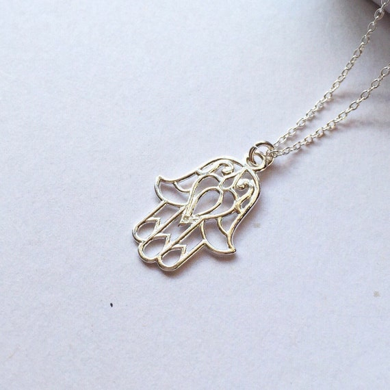 UK HAMSA HAND PENDANT NECKLACE Jewellery Gift Idea Spiritual Yoga Symbol Boho