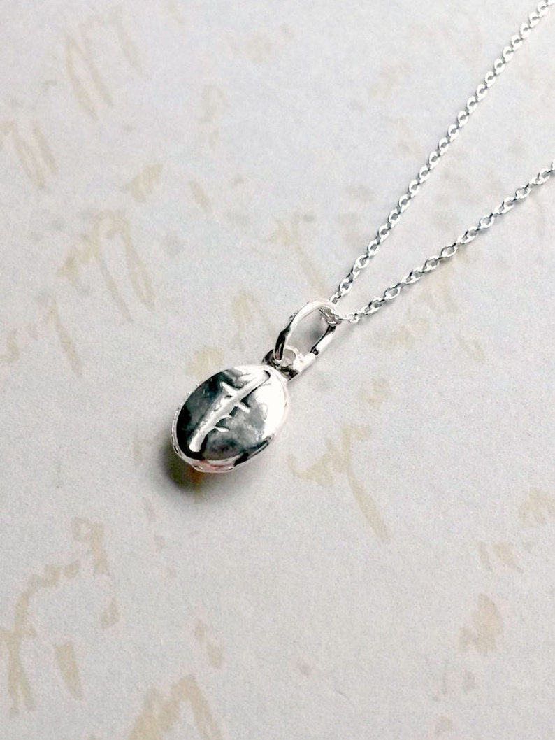 c8fdf8cec473 Coffee Bean Necklace Sterling Silver Coffee Bean Pendant