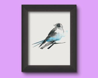 Aquarell Bird - Vogel - Perfect Gift - 20x30