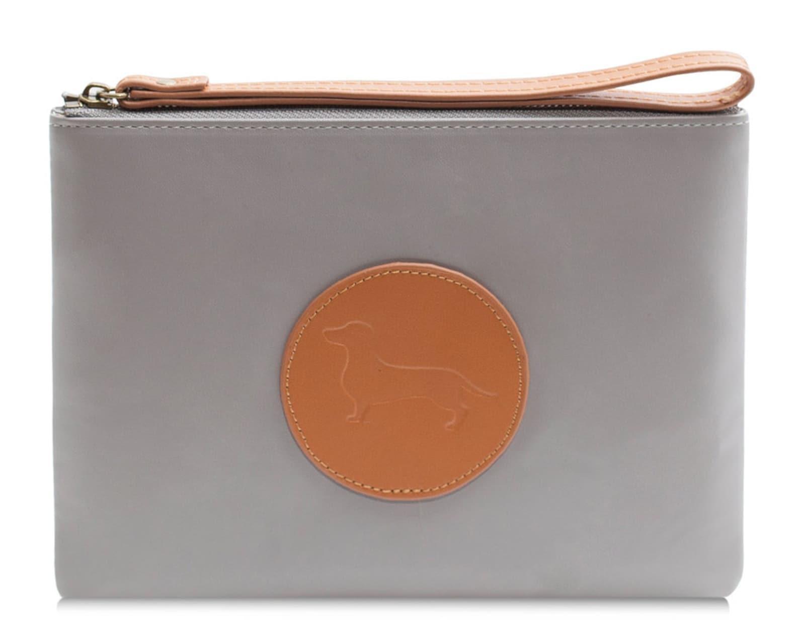 Dachshund clutch purse