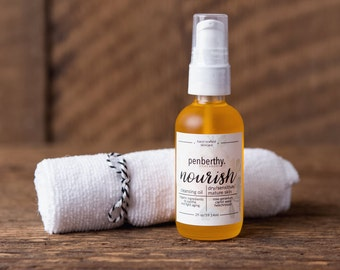 """Cleansing Oil - """"Nourish"""" . Oil Cleansing Method . Face Cleanser . Cloth Sold Seperately - 2oz"""