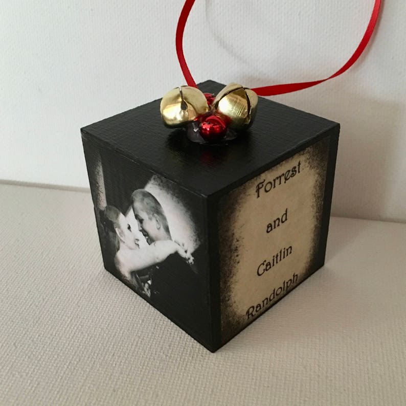Personalized Baby's First Christmas ornament.   Etsy
