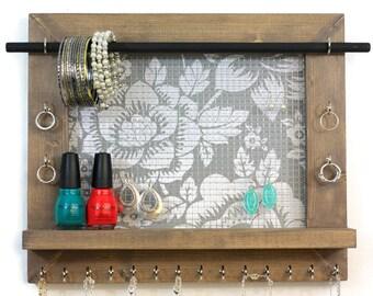 Jewelry Organizer - Floral Wall Hanging Jewelry Display
