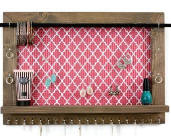 Jewelry Shelf Organizer - Home Decor Shelf - 19x14