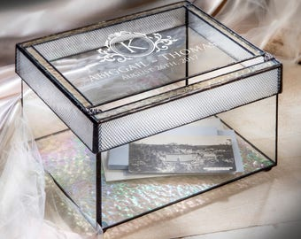 Glass Wedding Box Etsy