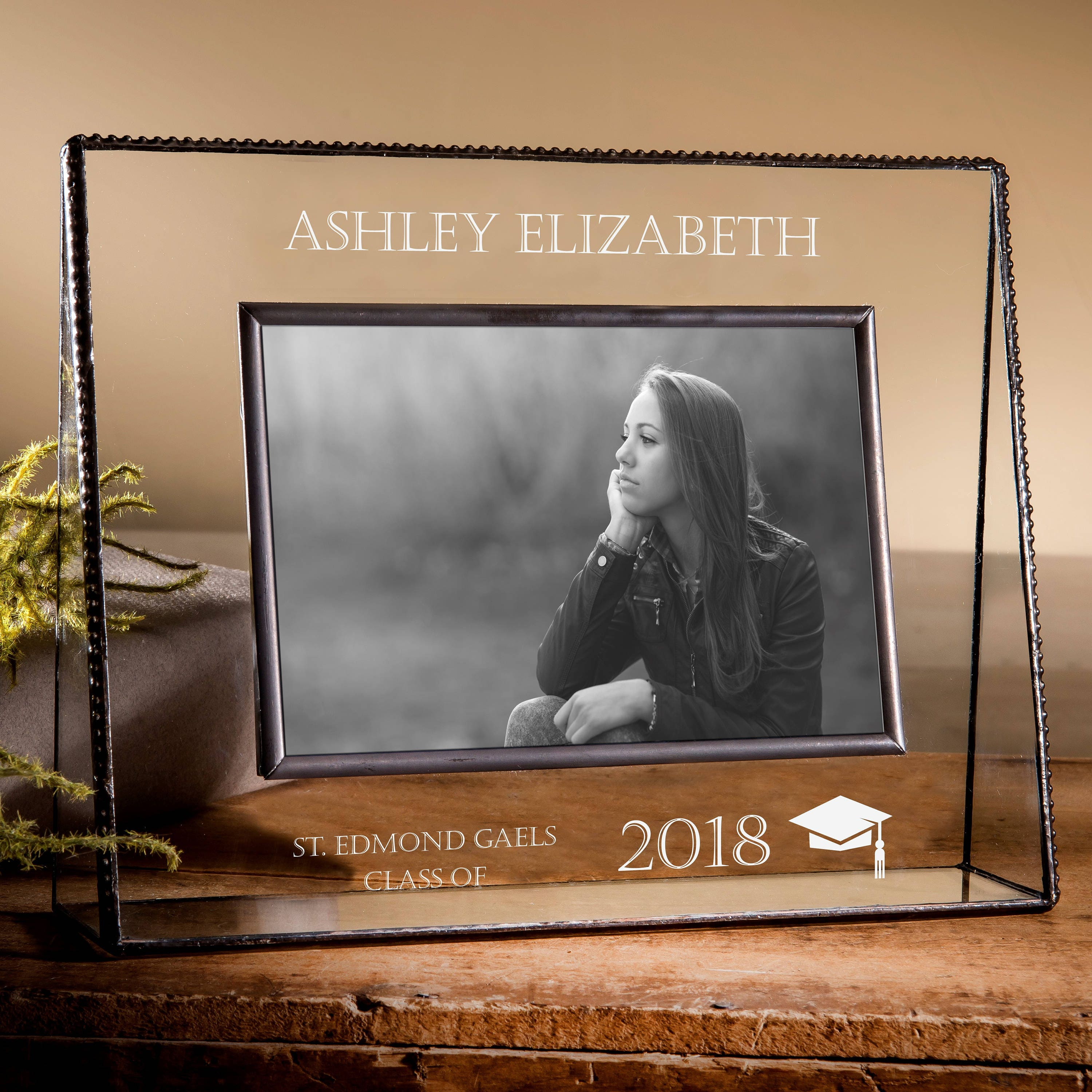Graduation Picture Frame 5x7 Personalized Gift Class of 2018 | Etsy