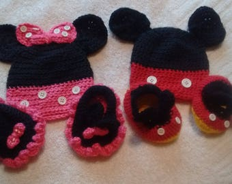 Mickey & Minnie Newborn Sets