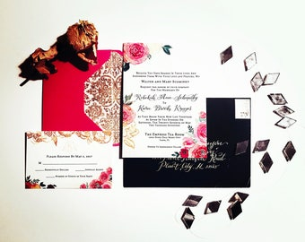 CUSTOM & HANDMADE invitations
