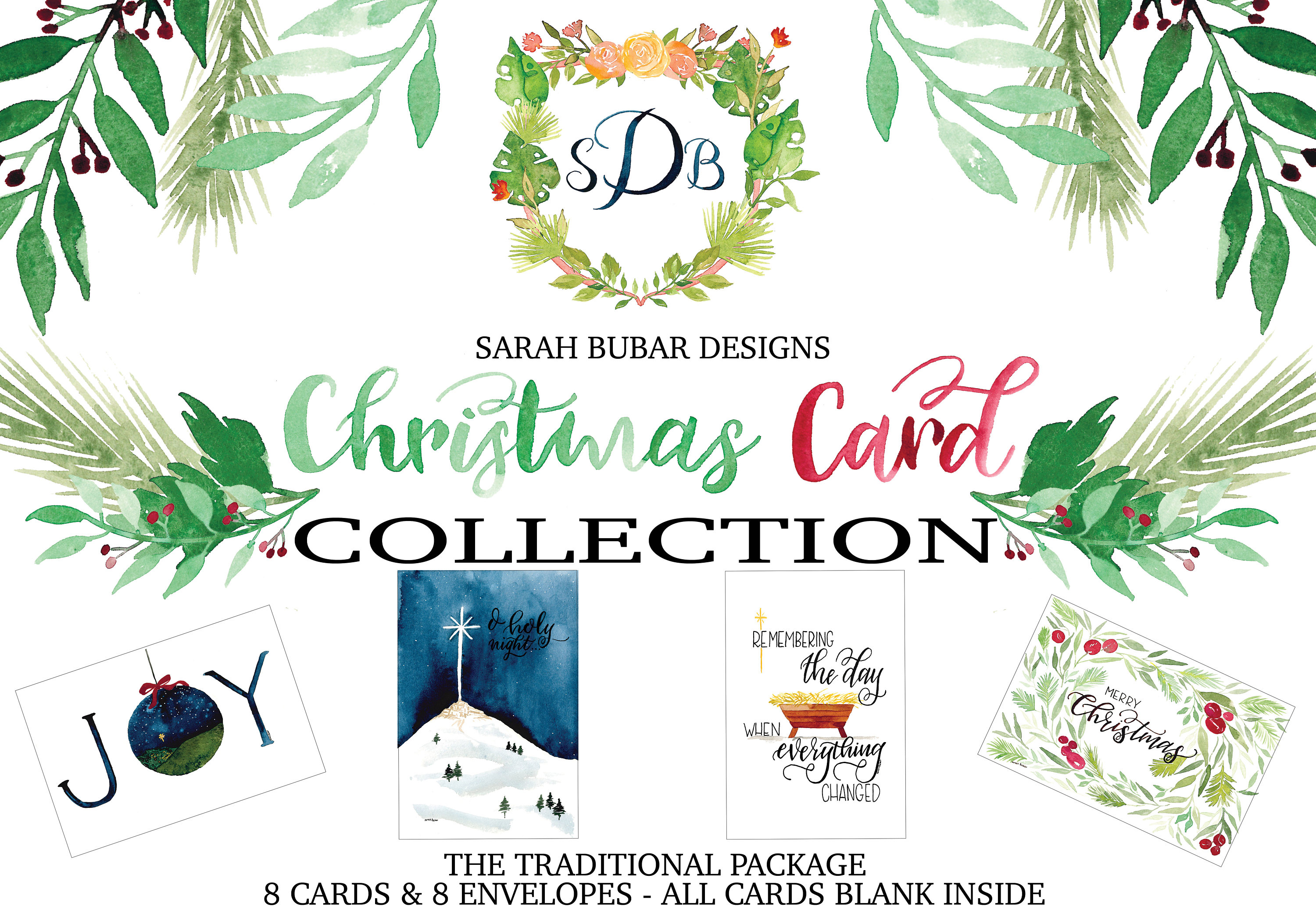 Christmas Card Collection - The Traditional Package