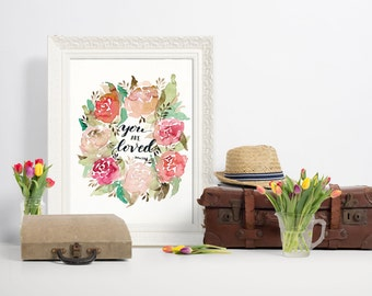 You are loved with Rose Wreath