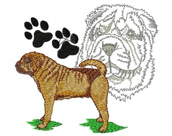 SHAR PEI PORTRAIT - Machine Embroidery Design
