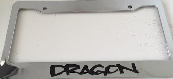Dragon Chrome License Plate Frame Dragons mma   Etsy