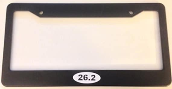 Chrome License Plate Frame MARATHON RUNNER 26.2 Auto Accessory