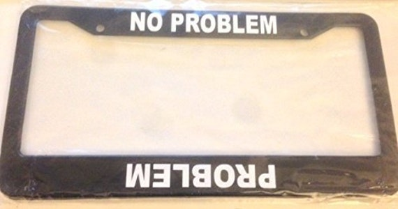 Black METAL License Plate Frame I/'d Rather Be Skiing Auto Accessory