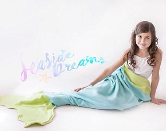 Seaside Dreams Blanket, Mermaid Tail Blanket, Kids Christmas gift, Birthday present, Baby blanket, Princess Ariel, Unique gift