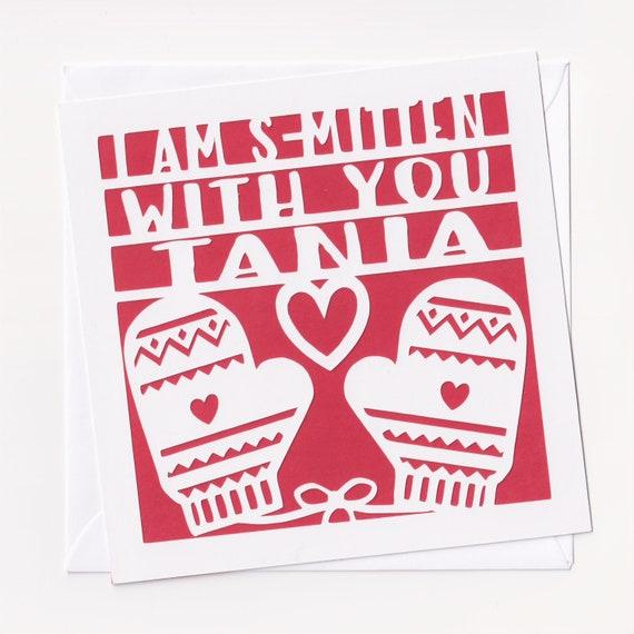 Personalised Papercut Christmas Card Girlfriend Christmas Etsy
