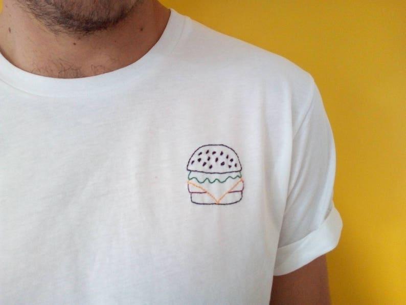 Self embroidered T shirt Big Mac 100% organic image 0