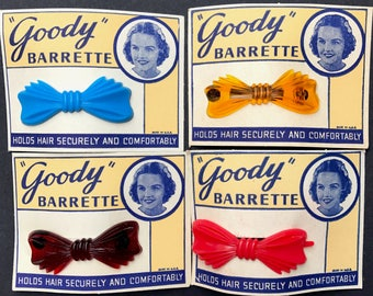 """Sweet Little 1950s """"Goody"""" BARRETTES - Choice of 4 Colours"""