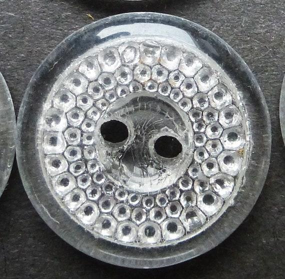 Vintage WHITE 1.4cm Glass Buttons 288 2 Gross WHOLESALE