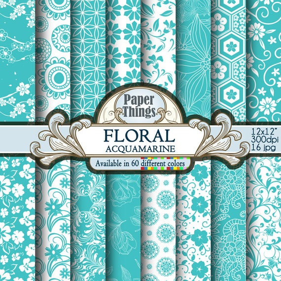 "12X12/"" Scrapbook Paper Periwinkle Collection Frames Single Sided"