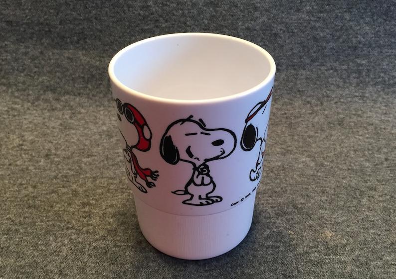 Vintage Snoopy Plastic Tumbler