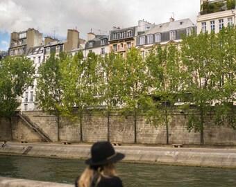 France, Paris, Seine, riverside, Fall, Autumn, Paris photography, Seine photography, wall art, Paris print, decor, fine art #029