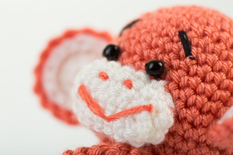 Crochet toy childrens toy monkey knit toy monkey knit baby toys baby toy stuffed animal toy baby gift christmas gift