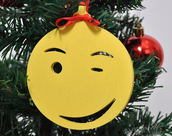 Wooden Christmas tree toys Christmas tree decoration Christmas ornaments Christmas toys  Smiles Wooden toys
