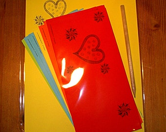 """Letter writing set, A4, """"Matters of the heart"""", letter paper, hearts,valentines day,love,friendship,partner,dear,gifts for women,best friend"""