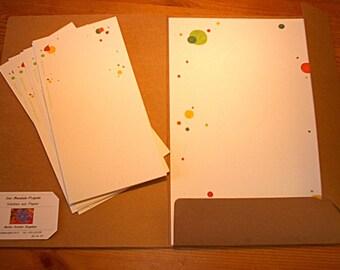 """Letter paper, set, """"Bubbles"""", A4, letter writing set, children, godchild, teenage girls, birthday gift, christmas gift, gift teacher, mum"""