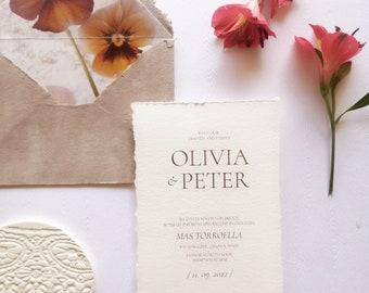 Boho style wedding invitation - Personalized invitation - Brown invitation - Boho stationery - Boho wedding - Bohemian style