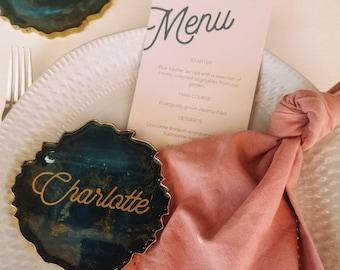 Wedding menu - Boho style  - Personalized menu - turquoise wedding - boho stationery - boho wedding - bohemian style